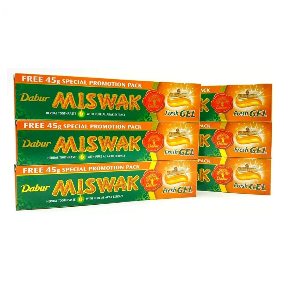 杜拜daburmiswak刷牙樹亮白抗敏草本牙膏135克
