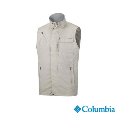 Columbia 哥倫比亞 男款-UPF50快排釣魚背心-卡其 UAE01730KI