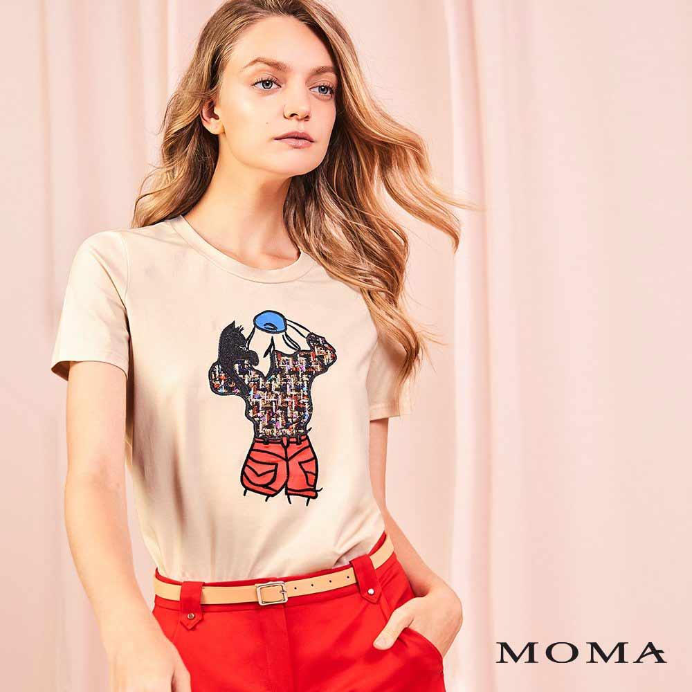 MOMA(01M069)戴帽人與貓T恤
