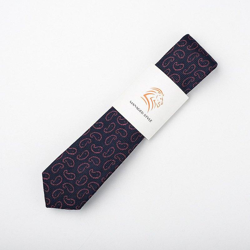 襯衣的犒賞 聚酯系列領帶-粉紅變形蟲