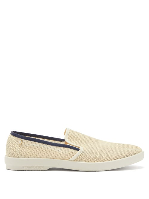 Rivieras - Recif Canvas Loafers - Mens - White