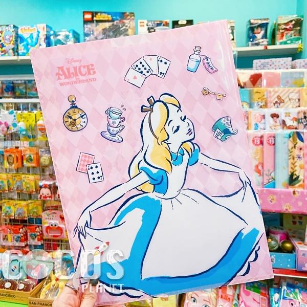正版 新款 迪士尼系列 愛麗絲夢遊仙境 愛麗絲 U型夾文件夾 收納夾 資料夾 COCOS QQ049