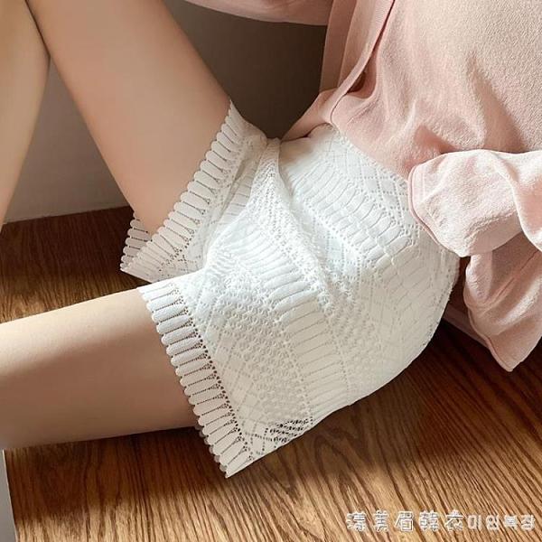 蕾絲安全褲女防走光寬松可外穿薄款jk打底褲短褲百搭不卷邊白色夏 美眉新品