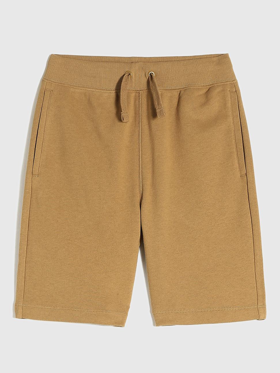 男童 簡約風素色鬆緊短褲