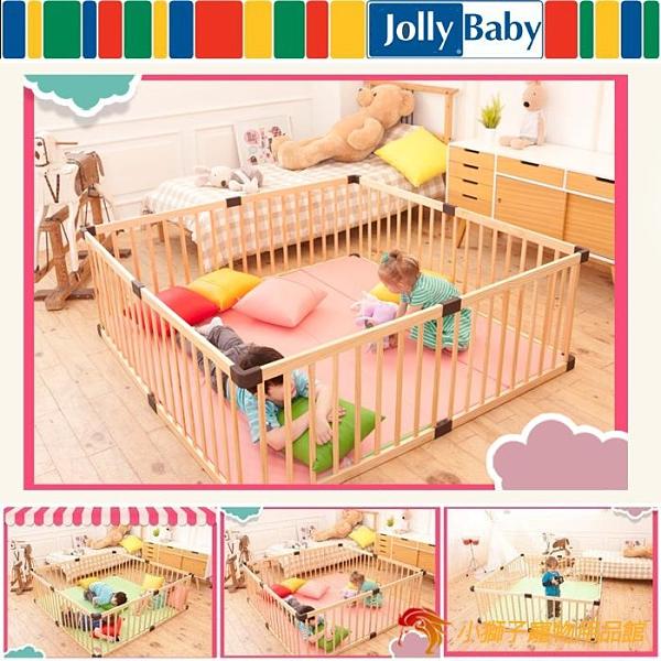 套組嬰兒游戲圍欄寶寶爬行護欄幼兒安全學步欄實木兒童柵欄【小獅子】