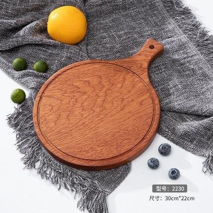 披薩盤 牛排餐盤披薩板木質托盤長方形家用刀叉創意西餐具水果蛋糕茶盤子