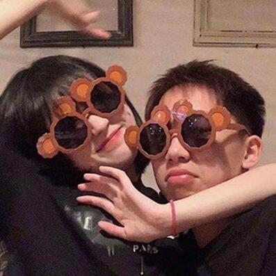 個性可愛動物搞怪小熊眼鏡 生日派對聚會通用拍照氣氛裝飾墨鏡 摩登生活