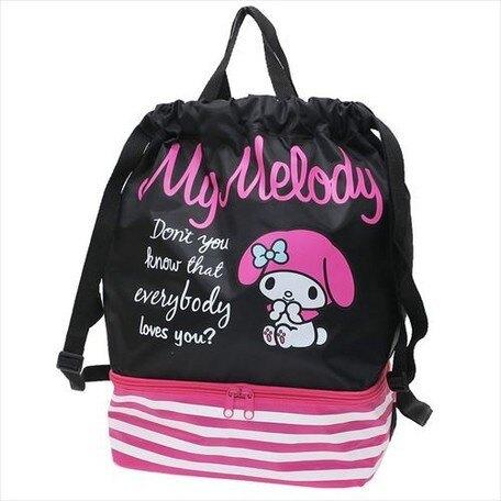 大賀屋日貨 後背包 哆啦A夢 Hello Kitty 角落生物 拉拉熊 美樂蒂 束口袋 手提袋 收納包 J0118288