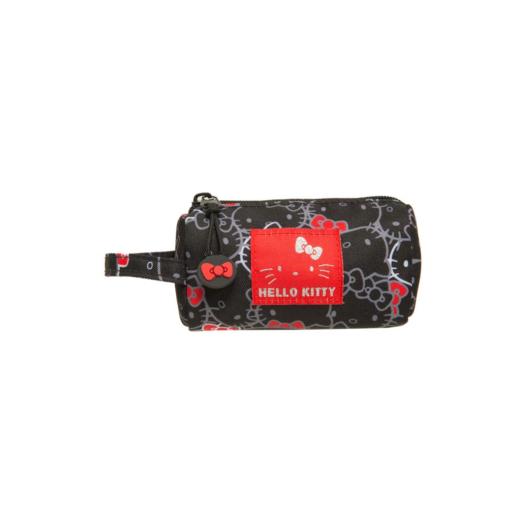 【Hello Kitty】繽紛凱蒂-圓筒零錢包-黑 KT01V06BK