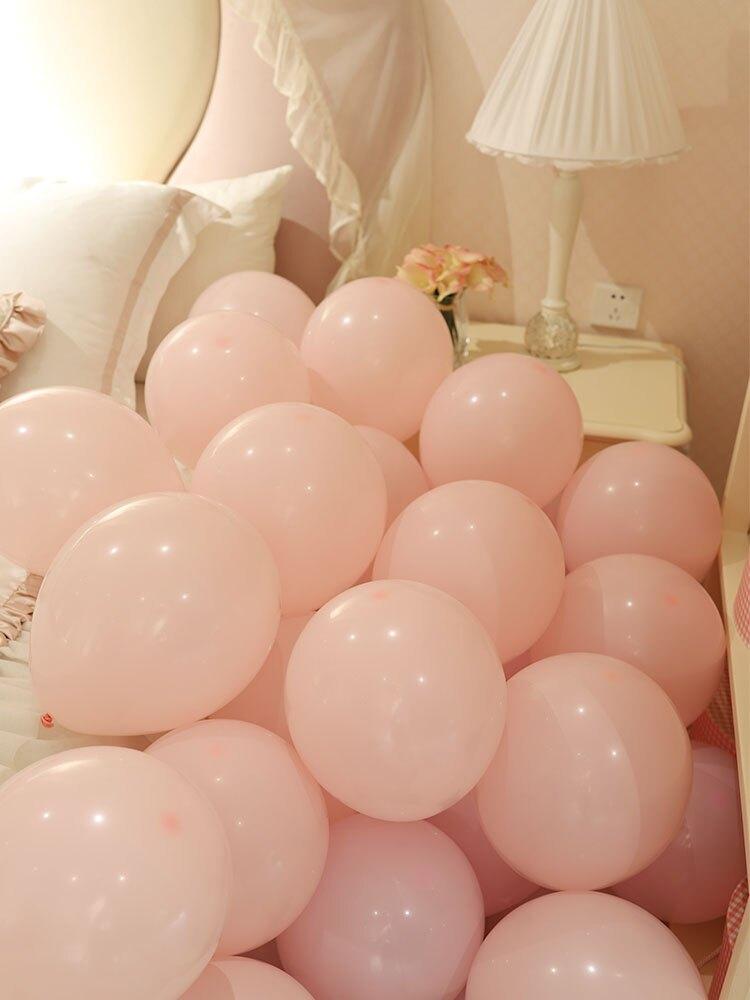 氣球裝飾 馬卡龍氣球加厚結婚生日場景布置裝飾品兒童卡通彩色飄空充氣【生日禮物】【DD34656】