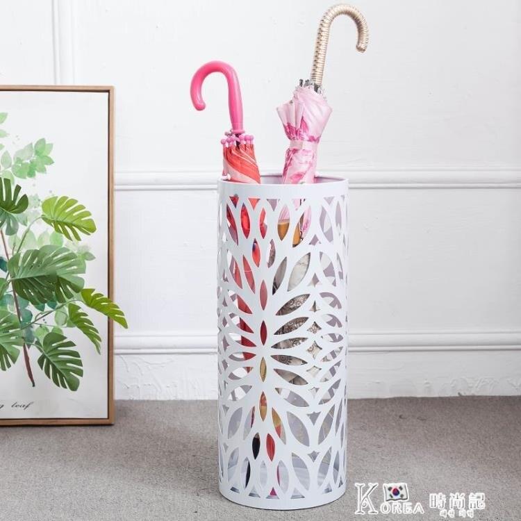 雨傘架-漫麗莎鐵藝雨傘桶創意雕花傘架放雨傘的架子收納雨傘北歐簡約傘架