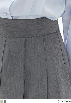 韓國空運 - 車線壓褶後鬆緊長裙 裙子
