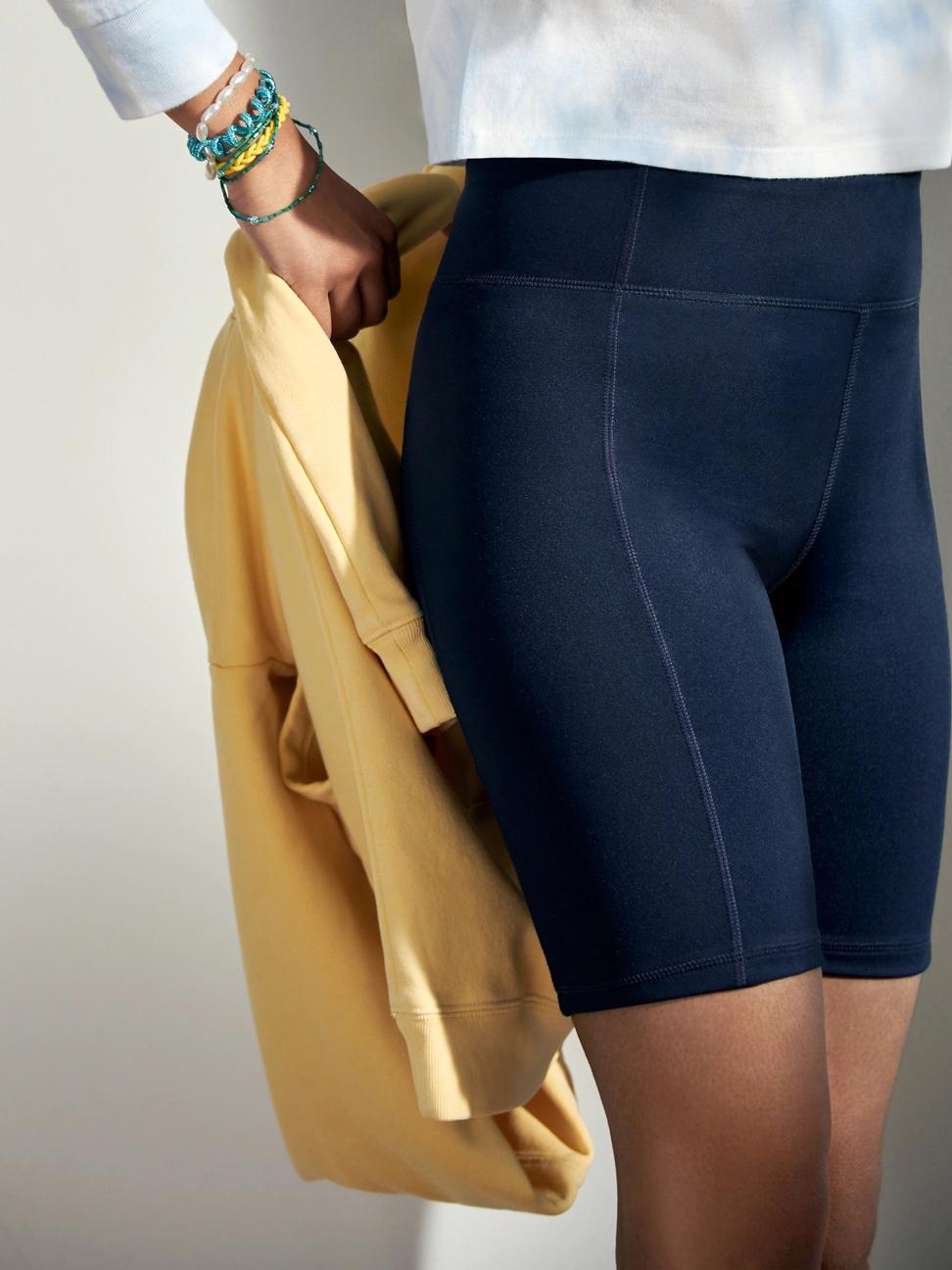 女童 簡約高腰修身內搭褲