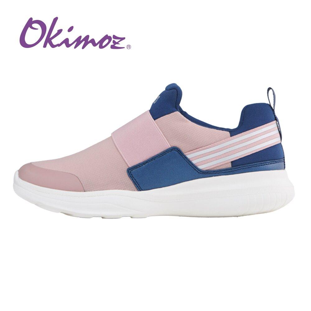【Kimo 德國品牌健康鞋】活力撞色輕量彈力休閒慢跑鞋(玫藕粉82570S009017)OKIMOZ
