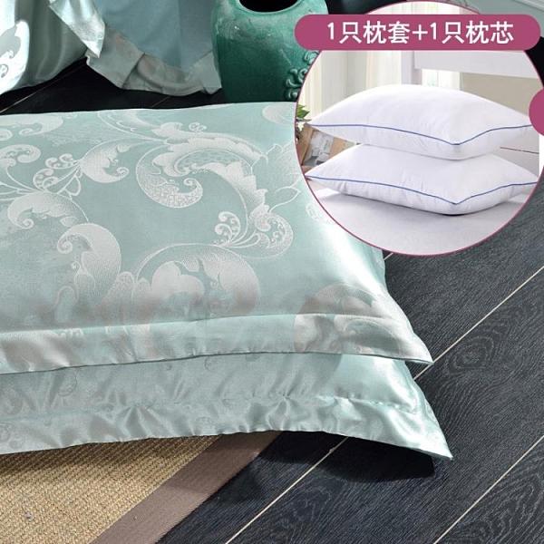 枕芯加枕套套裝學生宿舍用枕頭 床上用品成人單人枕一對拍2 璐璐