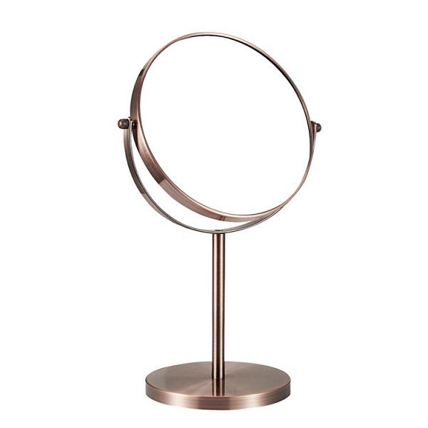 化妝鏡 漢九宮歐式高清臺式化妝鏡鏡子梳妝鏡雙面鏡公主鏡美容鏡放大桌面LX  美物 99免運