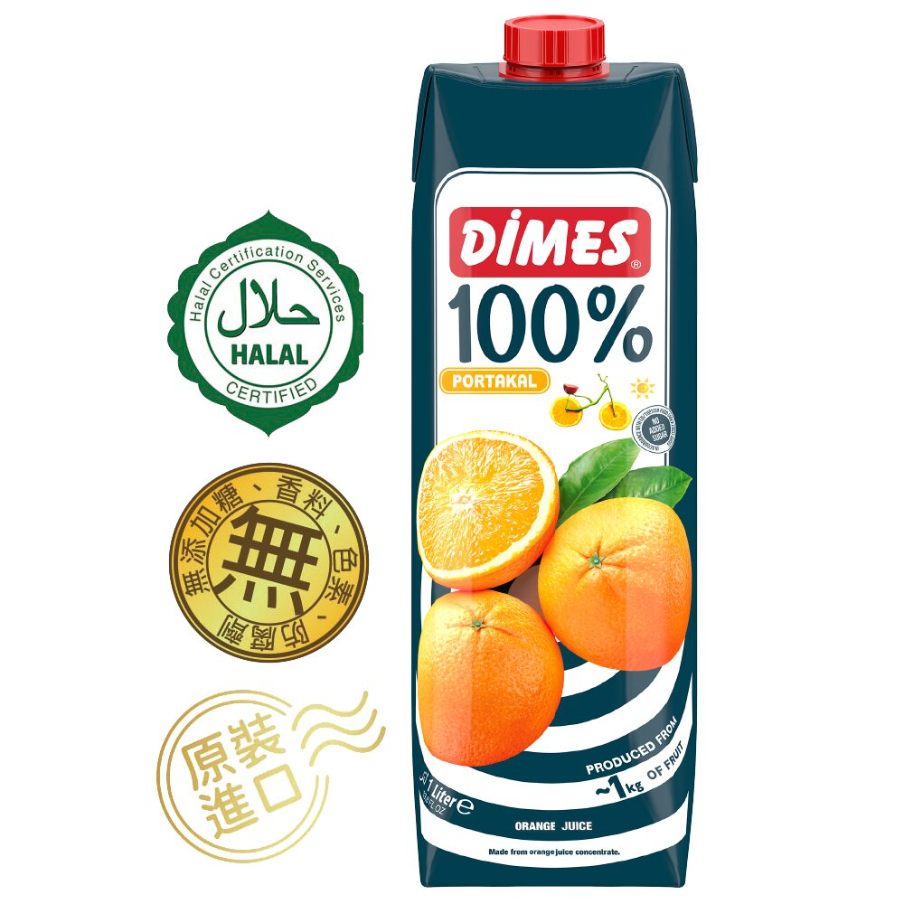 Dimes地美100%柳橙汁1000mlx6入
