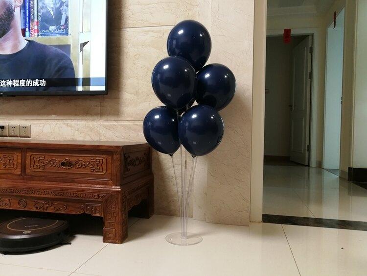 墨藍色氣球寶石藍生日婚禮氣球裝飾派對布置 城市玩家