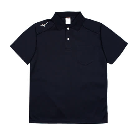 MIZUNO 男  吸汗快乾 短袖LOGO POLO衫 深藍 丈青 - 32TA002014