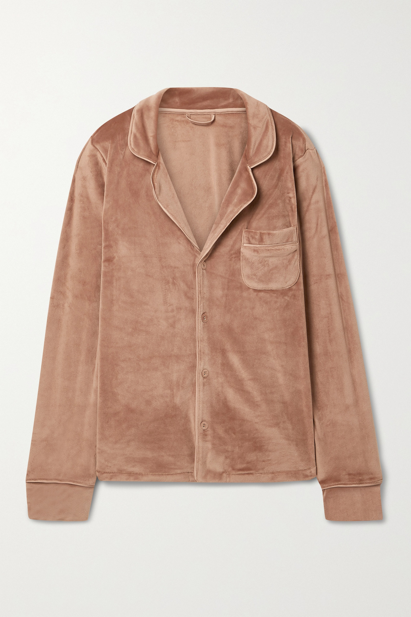 SKIMS - Velour Sleep Shirt - Sienna - Brown - L