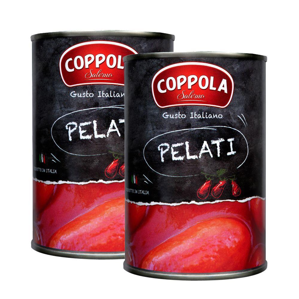 義大利Coppola柯波拉去皮整粒番茄兩罐 Pelati / Peeled plum tomatoes 400g*2