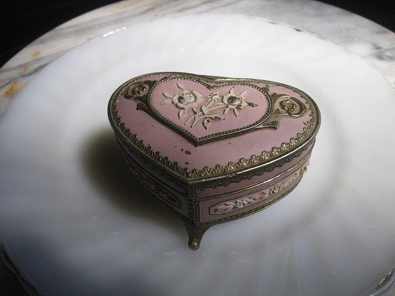 【老時光 OLD-TIME】早期日本製金屬音樂珠寶盒