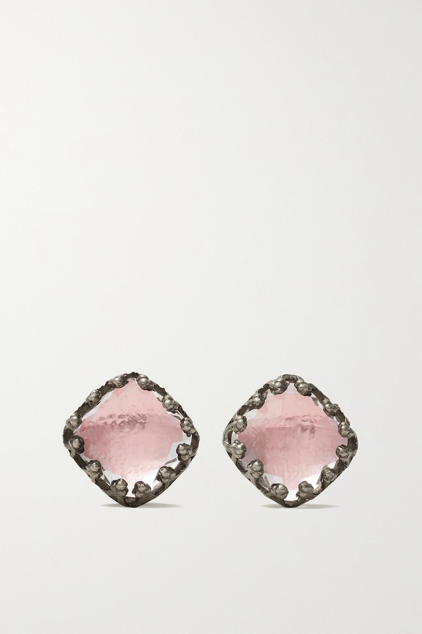 LARKSPUR & HAWK - Jane Rhodium-dipped Quartz Earrings - Silver - one size