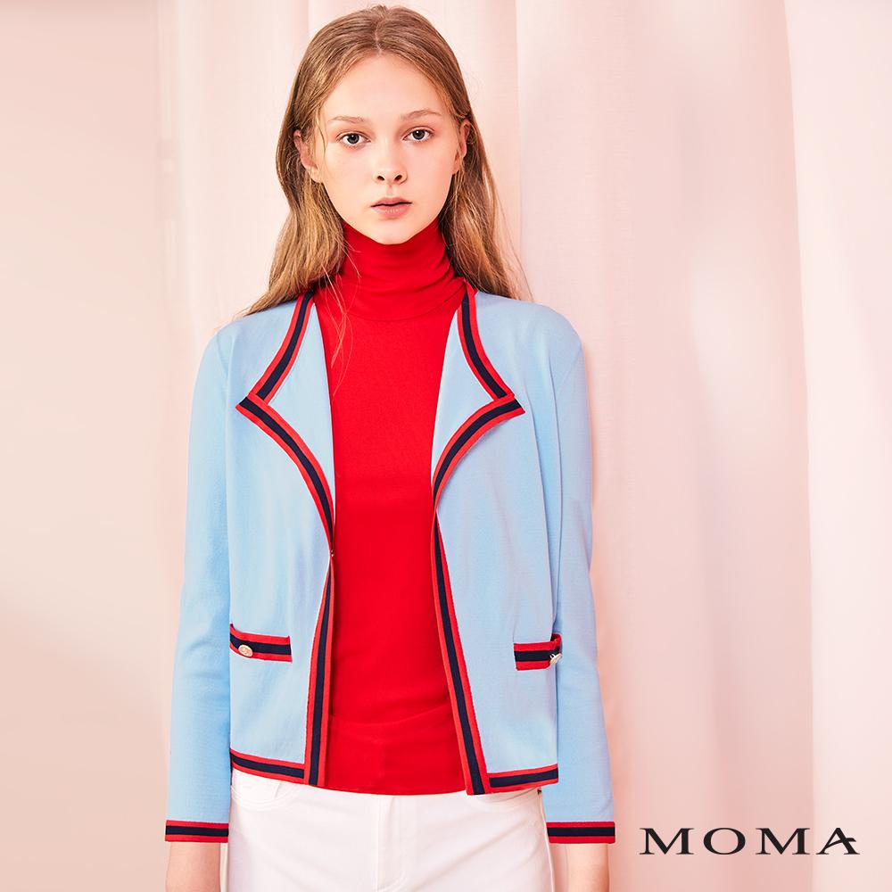 MOMA(01KJ13)經典飾邊針織外套