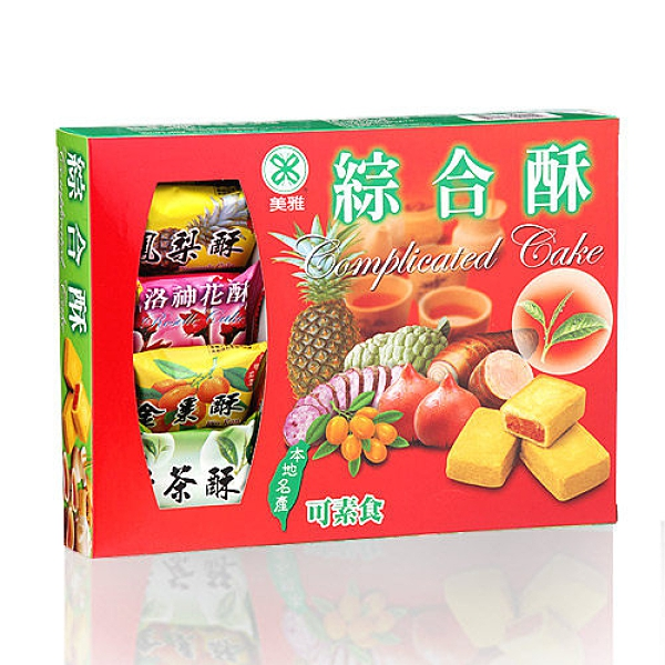 【美雅宜蘭餅】綜合酥x3盒 一次品嚐釋迦、洛神、綠茶、鳳梨、金棗多種口味!