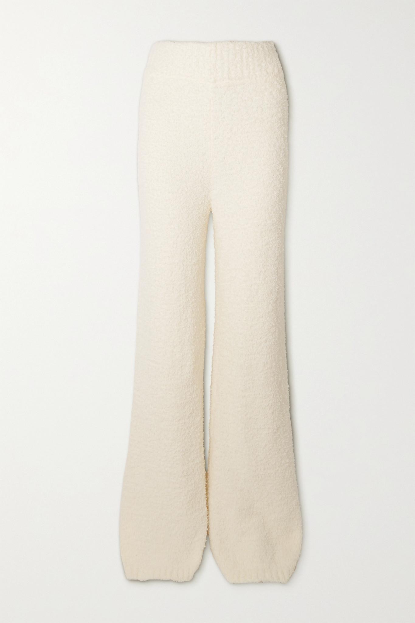 SKIMS - Cozy Knit Bouclé Pants - Bone - White - L/XL
