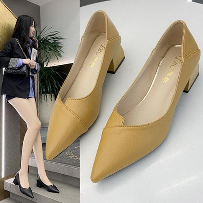 FOFU-(任2雙788)時尚不對稱設計粗跟中跟樂福鞋【02S13654】