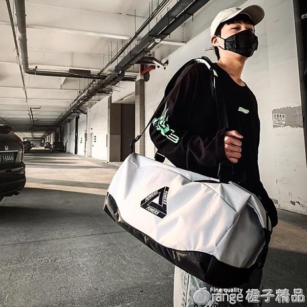 旅行包大容量男超大手提運動健身包輕便攜帆布收納袋網紅行李背包『 璐璐』