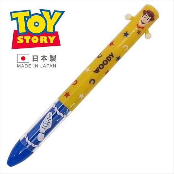 【SAS】【日本製】日本限定 迪士尼 玩具總動員 胡迪 手手造型版 雙色原子筆