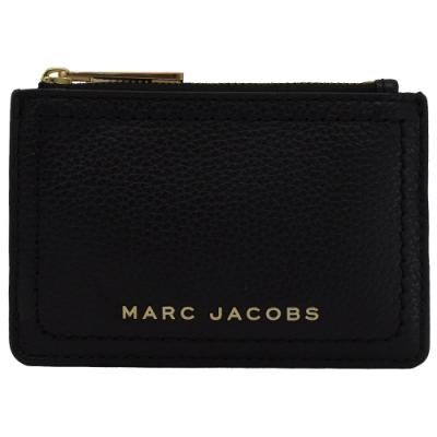 MARC JACOBS 金屬LOGO4卡鑰匙吊環零錢包(黑)