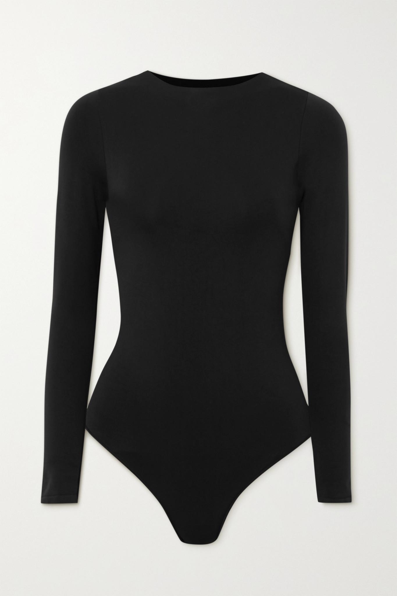 SKIMS - Essential Crew Neck Thong Bodysuit - Onyx - Black - S/M