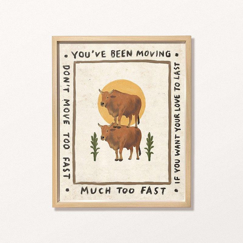 Salmo - Don't Move Too Fast - 印刷畫/複製畫/插畫/Print
