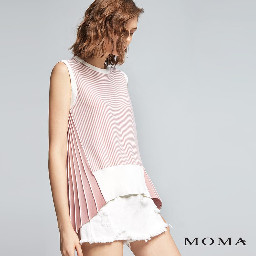 MOMA(01KM53) 細條織紋針織上衣