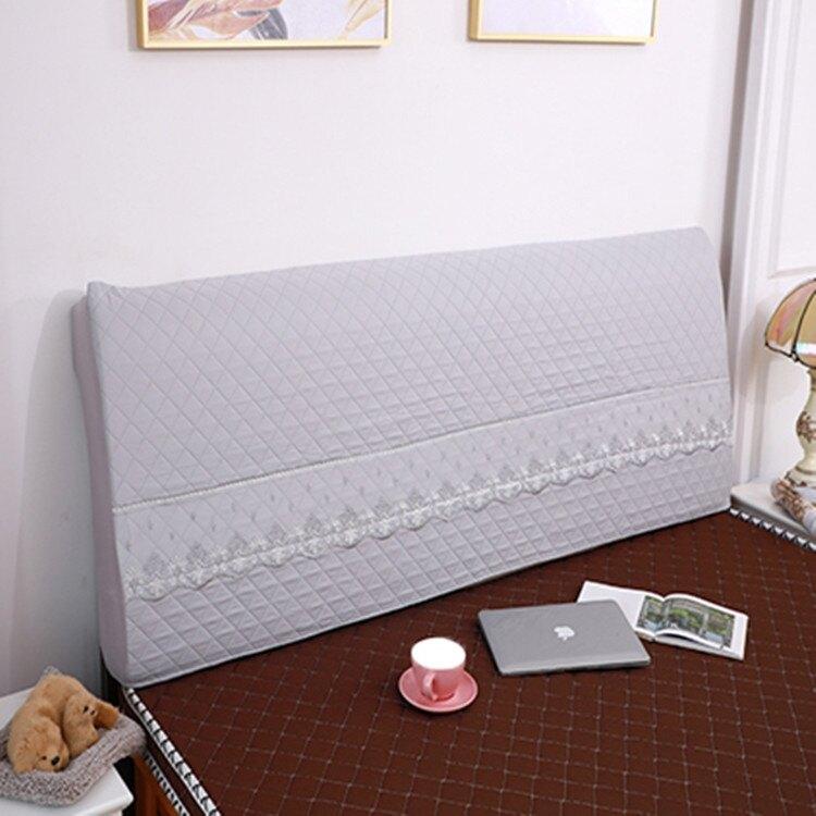 全包床頭罩加厚夾棉木板床頭套1.5米床頭靠背防塵罩 城市玩家