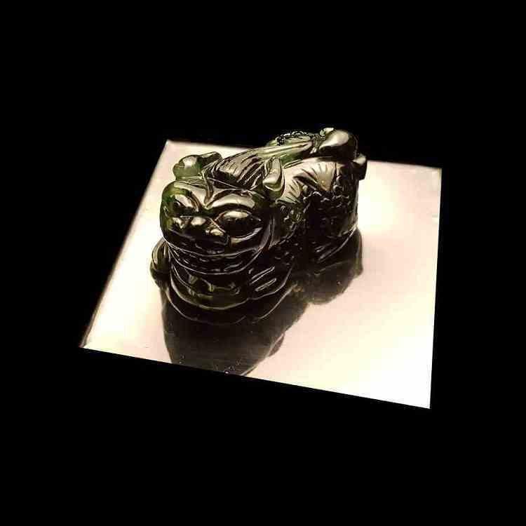 緬甸天然墨翠貔貅裸石