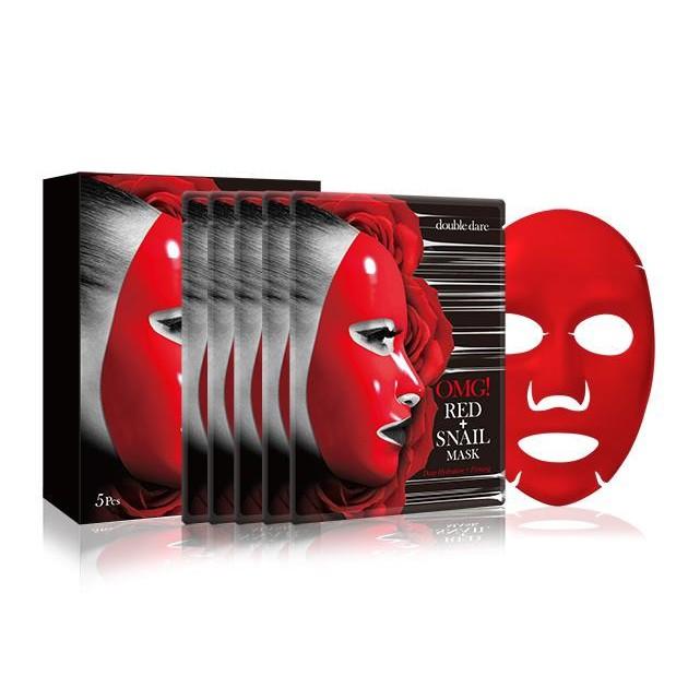 【double dare】OMG!紅蝸牛面膜 5片盒裝