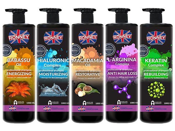 RONNEY 英國朗霓~芭芭樹油/複合式玻尿酸/澳洲堅果油/複合式胺基酸/複合式角蛋白 洗髮精(1000ml) 款式可選【DS000450】