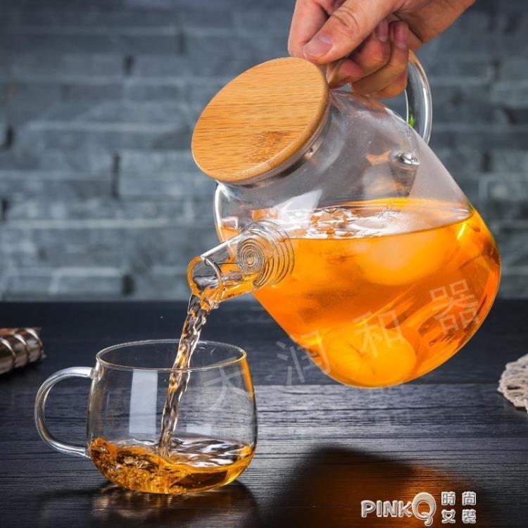 天潤和器家用大容量耐熱玻璃茶壺加厚防爆冷水壺涼水杯果汁壺