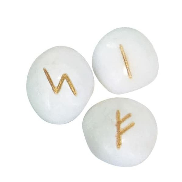 白瑪瑙盧恩符文石|White Onyx Runes【左西購物網】