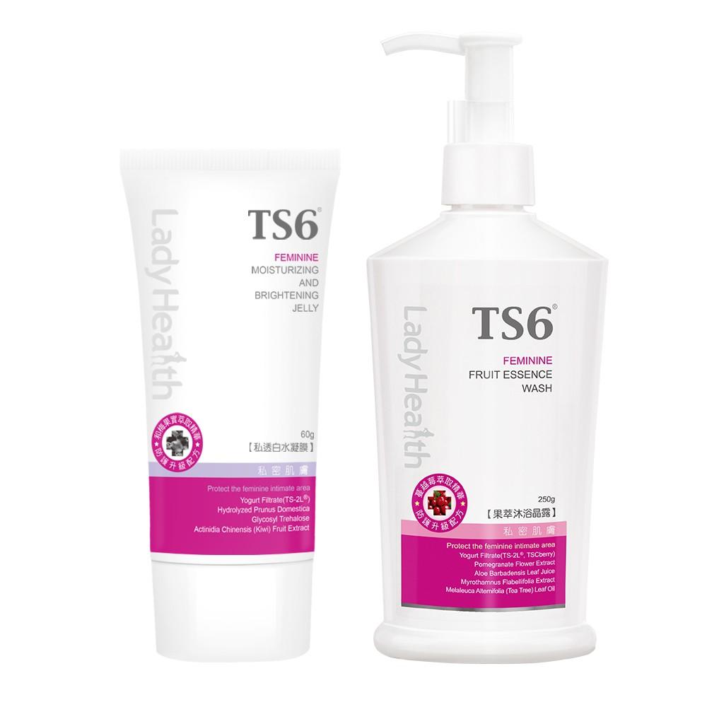 TS6護一生私透白水凝膜60g+果萃沐浴晶露250g