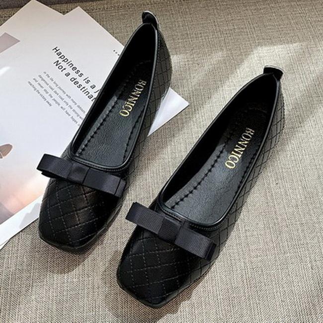 FOFU-小香風編織蝴蝶結方跟低跟樂福鞋【02S13651】