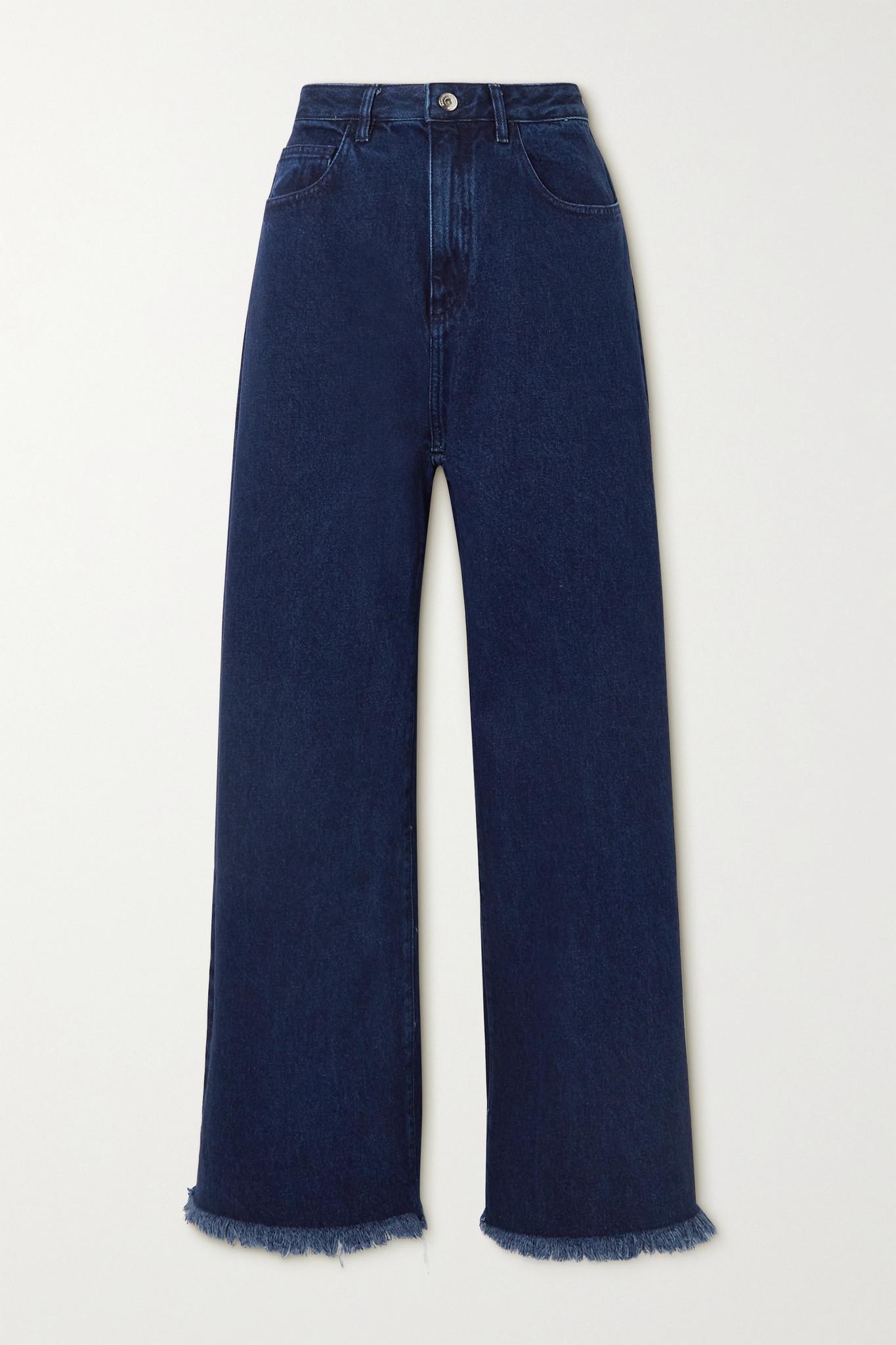 MARQUES' ALMEIDA - Frayed Boyfriend Jeans - Blue - UK6