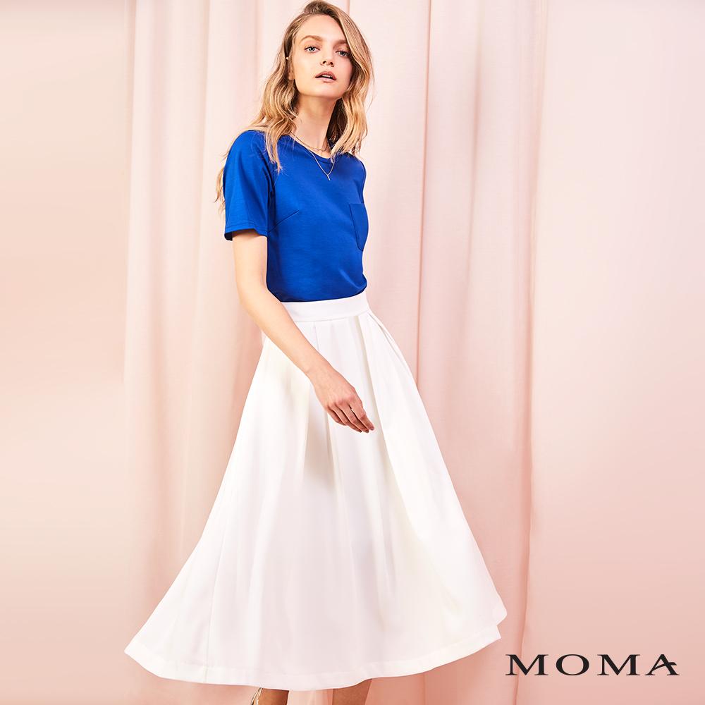 MOMA(01D064)雙色後腰鏤空洋裝