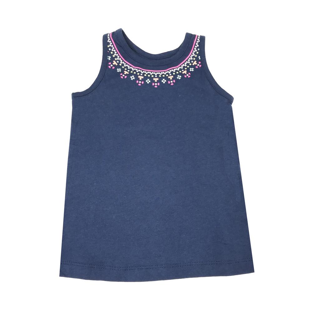 無袖背心上衣 深藍 女童   Carter's 卡特【CA253H012】BA0601