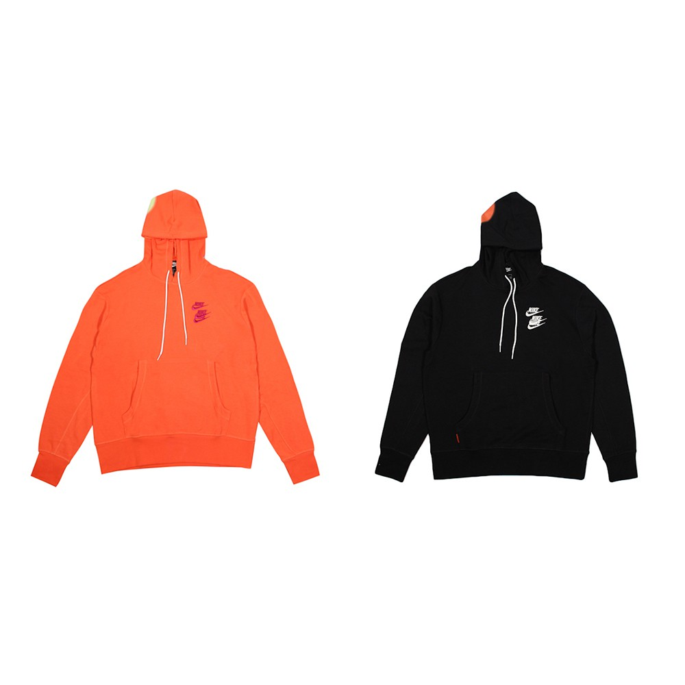 NIKE 男 AS M NSW PO FT HOODIE WTOUR 長連帽T 黑 橘 廠商直送