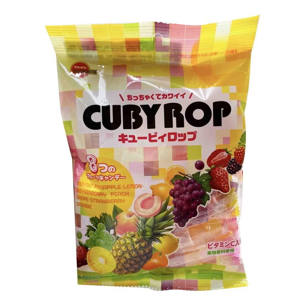 日本 北日本 Bourbon QB方塊水果味糖 水果糖 水果硬糖 糖果